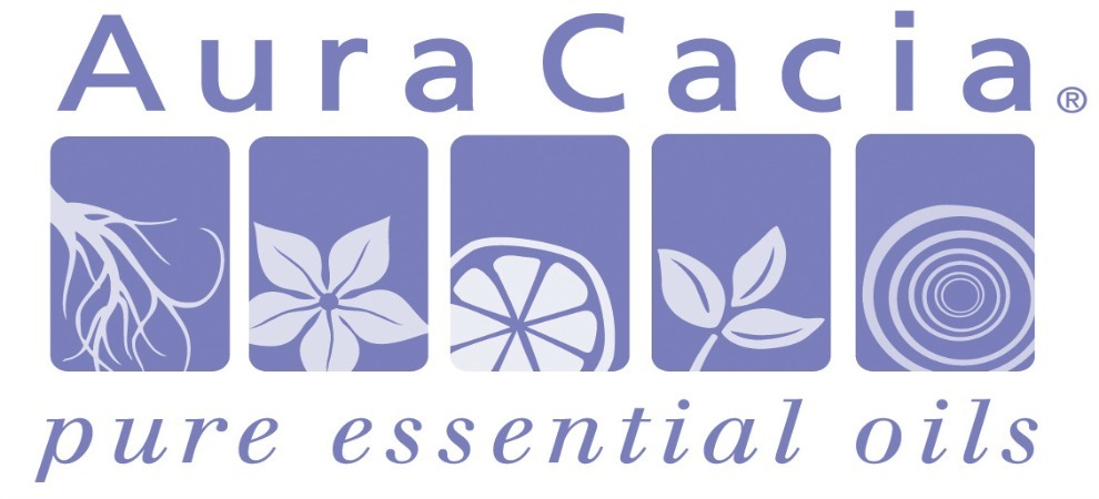 This is the logo for Aura Cacia.